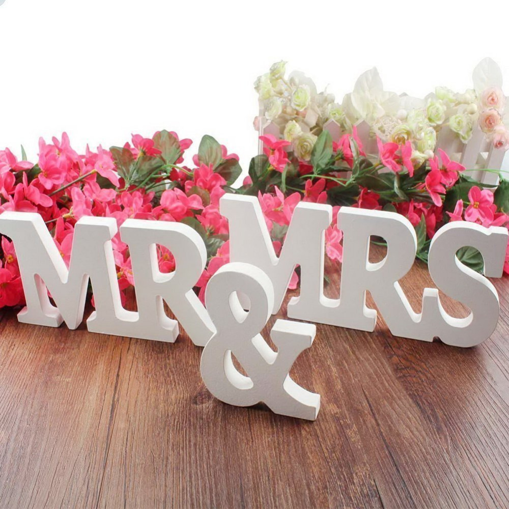 Wooden Letters Mr & Mrs Wedding decoration Marriage Birthday Mr & Mrs letters Wedding Sign