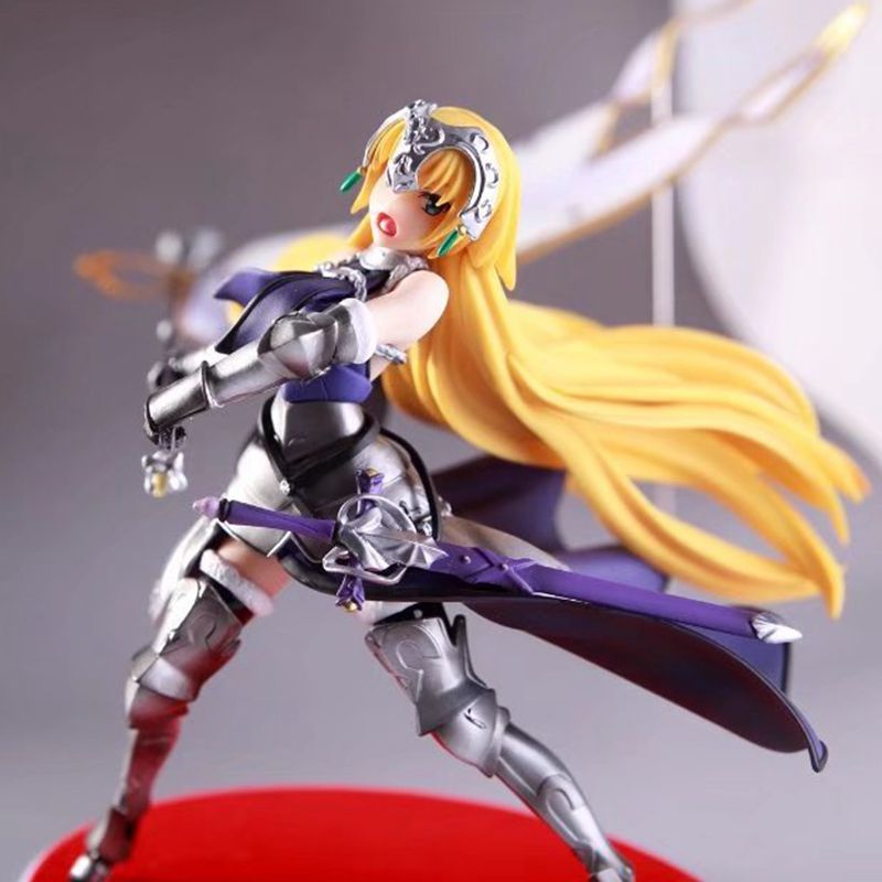 Free Shipping 8 Fate Grand Order Anime Joan of Arc Ruler Waving Flag Boxed 20cm PVC Action Figure Model Doll Toys Gift le fate топ