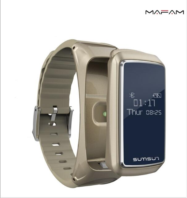 Bluetooth B7 Smart Bracelet Bluetooth Headset Combination Phone Listening to Heart Rate Monitor Pedometer For Apple Mobile Phone uwatch umini smart bracelet with heart rate monitor bluetooth headset