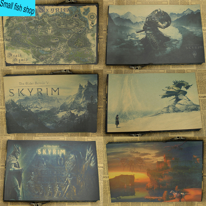 Online Buy Wholesale Skyrim Poster From China Skyrim