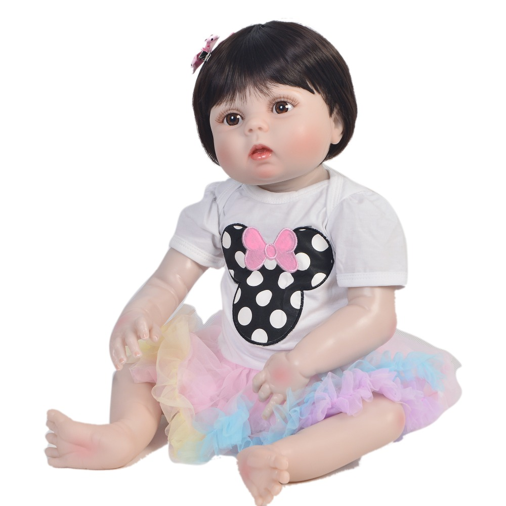 23 57 cm Bebes reborn girl doll Full Body Silicone Baby Doll Fashion Princess Doll For Childrens Day Gift alive bonecas23 57 cm Bebes reborn girl doll Full Body Silicone Baby Doll Fashion Princess Doll For Childrens Day Gift alive bonecas