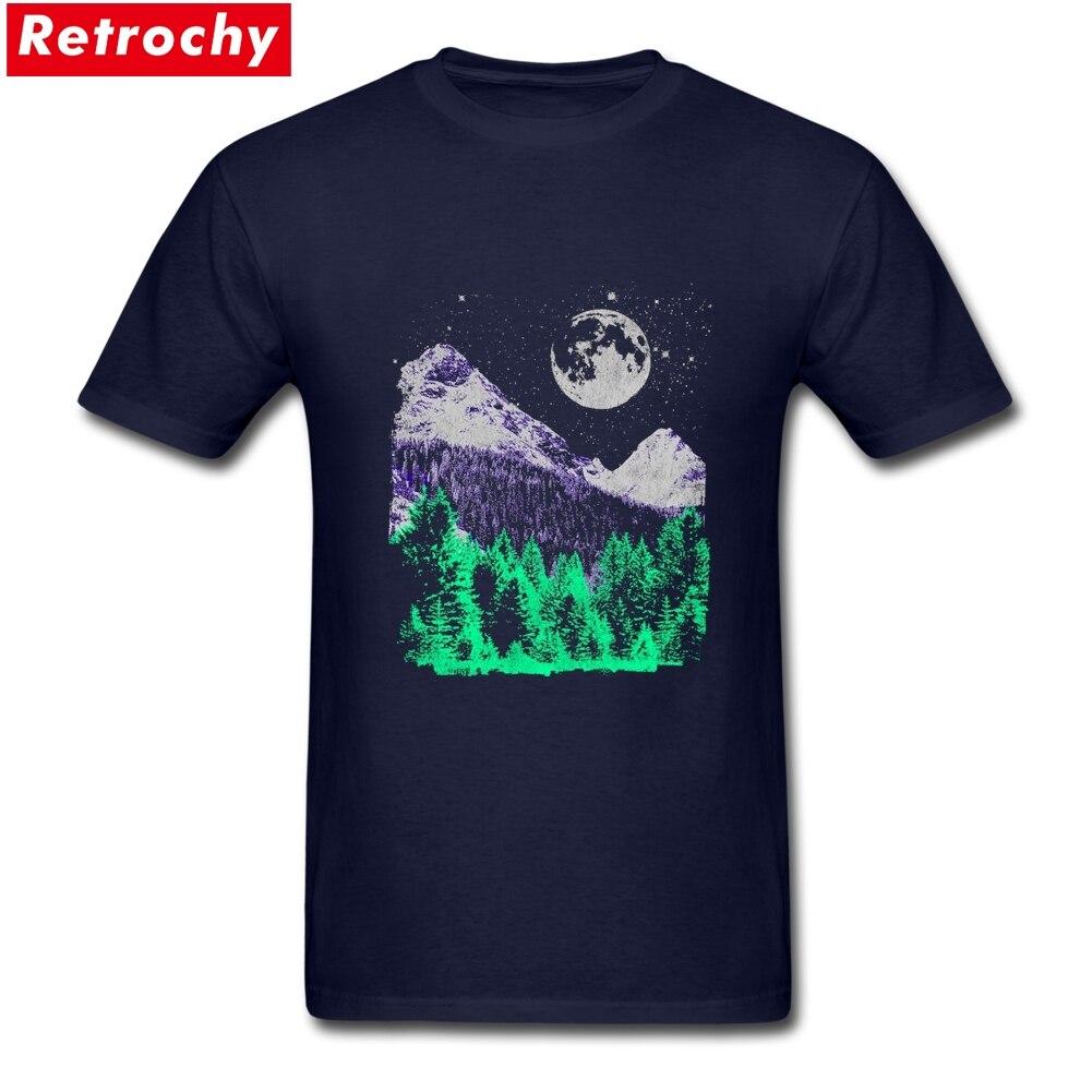 Mountain Landscape Merchandise T-Shirt Short Sleeve Mens Spandex Cotton Plus Size Tees