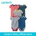 5 pcs de carter do bebê das crianças das crianças Curto-Manga Bodysuits 126G335, vendido por carter oficial da China loja