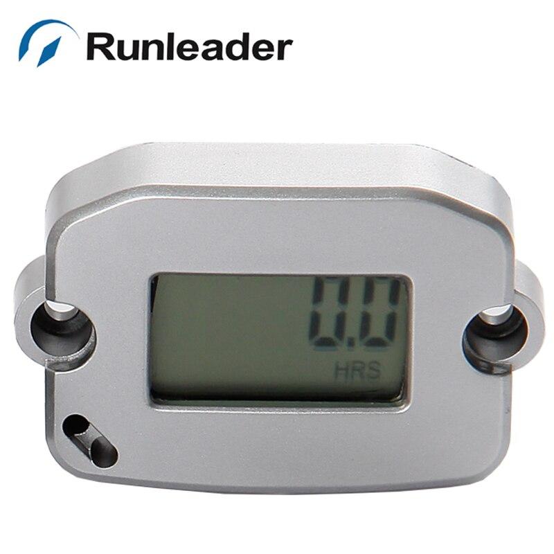 (30pcs/lot) RL-HM022 Digital Inductive Hour Meter Record Max RPM Tachometer Used For Motorcycle Dirt Bike Boat Generator Ski