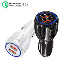 Quick Charge 3.0 Car Charger Cigarette Lighter Socket Adapter QC 3.0 Dual USB Port Fast Charge Car Accessories For Phone DVR MP3(China)