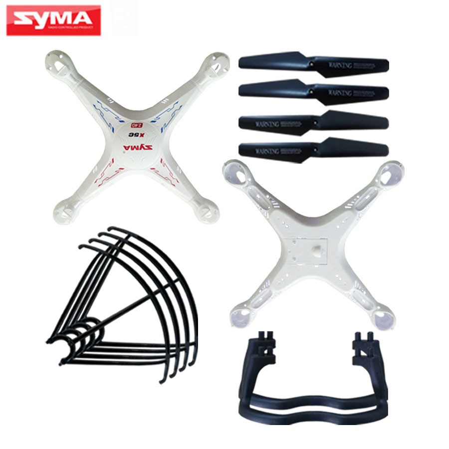 Syma its Shell Main body Spare Parts For X5C X5 X5A RC Helicopter Propeller blade + Protecting Frame Quadcopter Accessories syma x8 x8c x8w x8g 2 4g rc drone quadcopter parts x8c 1 2 main body body shell 1set 2pcs lot free shipping