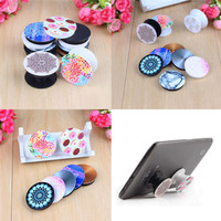 10pcs Car Phone Holder Unicorn Lovely Patterned Painting POP Phone Holder Expanding Phone Stand And Grip