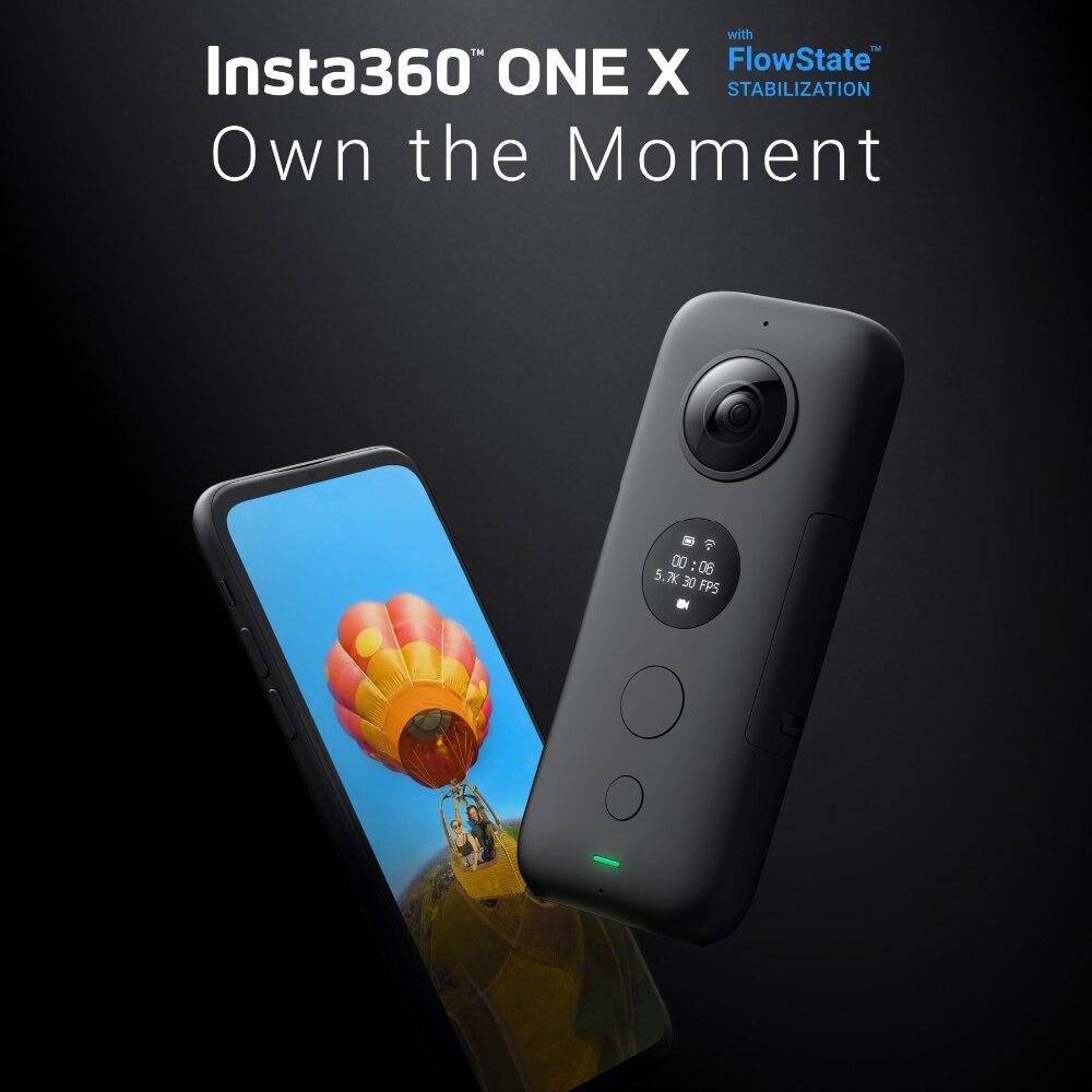 Insta360 ONE X caméra d'action sportive 5.7 K vidéo VR 360 pour iPhone et Android caméra d'action youtube vidéo en streaming en direct