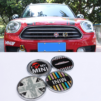 Metal 3D Front Grill Metal Emblem Badge Sticker Car Styling For MINI Cooper JCW S One Countryman R60 R61 F55 F56 F60 Accessories