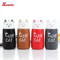 Hot Selling 330ml Cute Lovely Cat Modelling Thermos Vacuum Insulation Cup Stainless Steel Flask Portable Child