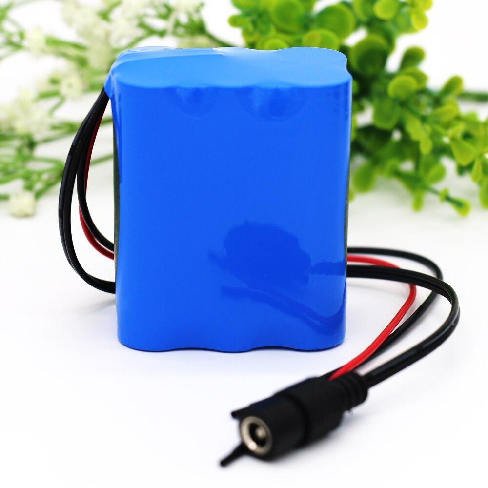 KLUOSI-batería de iones de litio para lámpara LED, 3S2P, 11,1 V/12,6 V, 5000mAh, 18650, BMS 5A, alimentación de respaldo, Etc.