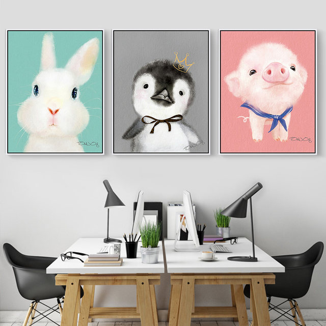 Online Shop Cute Animal Canvas Painting Small Chicken For