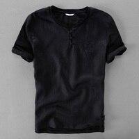 Suehaiwe der marke leinen t-shirt männer kurzarm t-shirt sommer casul t-shirt mens solide mode t-shirts männliche business camisa