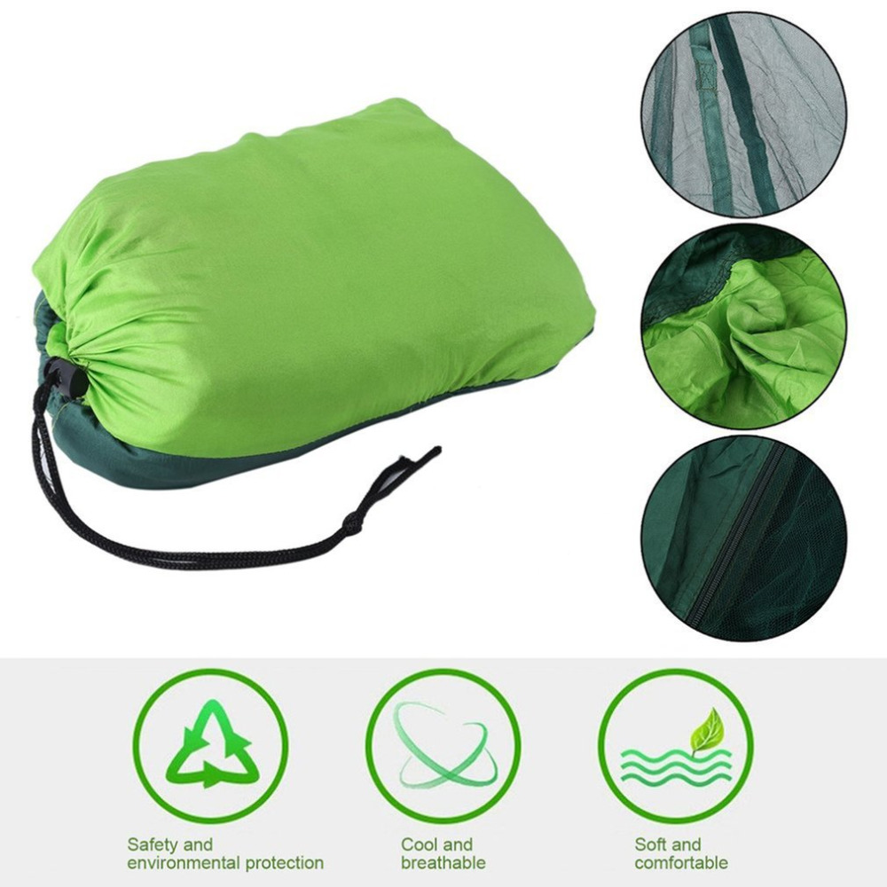 Adroit Mosquito Bug Net For Hammock Parachute Fabric Portable Ultralight With Folding Bag Indoor Outdoor Camping Gear Furniture Outdoor Furniture