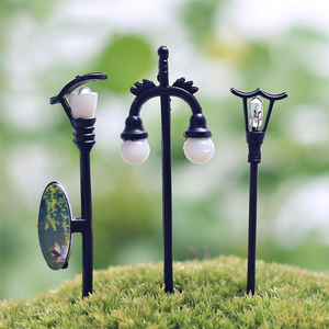 Craft Vintage DIY Miniature Lamp Creative 1PC Garden Home Decoration Mini Artificial Micro Landscaping(China)