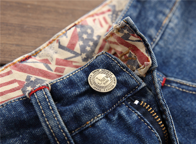 Newsosoo Fashion Men Ripped Painted Jeans Pants Straight Destroyed Denim Trousers With Big Holes Distressed Jean Joggers Washed