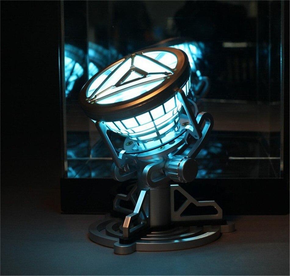 Légende 1:1 Échelle Avengers Super Héros Ironman Anime Iron Man Réacteur À Arc Avec Lumière LED PVC Figurine Jouets Pour Enfants poupée 14 cm
