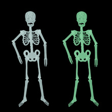 Halloween Toy Kids Adult Funny Luminous Skull Skeleton Body Scary Haunted House 150cm Tricky Props