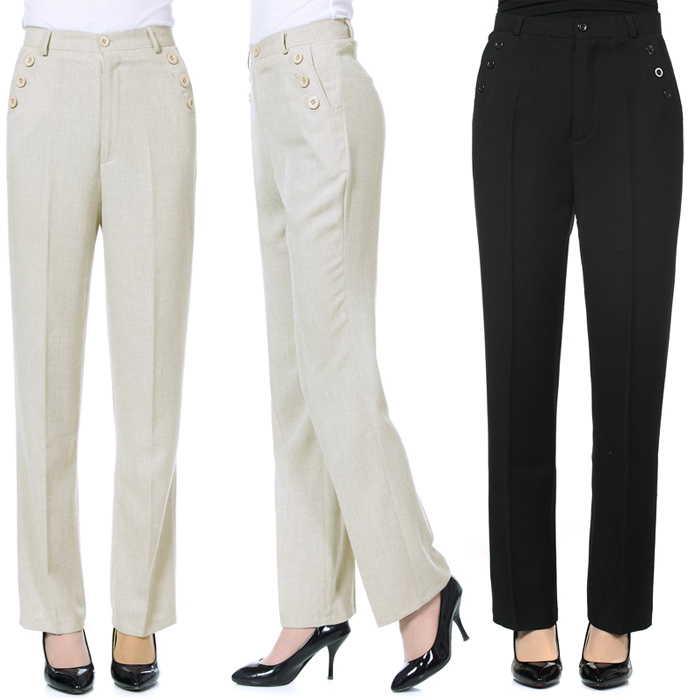 Brilliant Elegant Womens Casual Slim Design Comfortable Linen Straight Pants Trousers | EBay