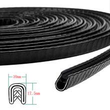 6Meter Car Door Edge Guards U Shape Edge Trim Rubber Seal Protector Automotive Weather Strip Bumper Flexible