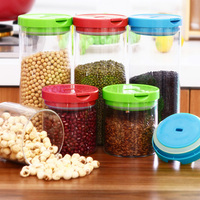 New Food Storage Bottles Glass Jar Sealed Cans With PP Cover Large Capacity Tampion Cereals Glass