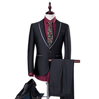 niceness (jackets+pants) New Fashion Men Suit Brand Men's BLAZERS Business Slim Clothing Suit Two piece suits for Wedding S 4XL