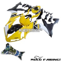 Free Shipping OEM Fitment Easy Installation ABS Motorbike Bodywork For Yamaha R1 2004 05 06 60th Anniversary Yellow Fairing Kit