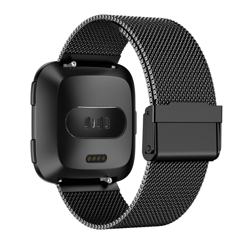 Stainless Steel Mesh Band Accessories Wristbands Straps Bracelet Watch Band For Fitbit Versa H35