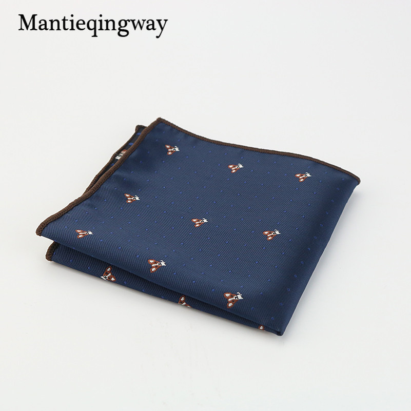 Mantieqingway Wedding Polyester Silk Pocket Square Party Paisley & Dot Handkerchiefs Women Hanky 24cm Pocket Towel For Mens Suit