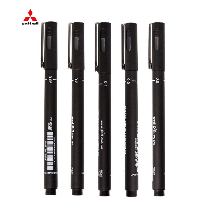 Japan Uni Pin Art Pigma Painting Pen Water And Fade Proof Line Paint Pen Black Color Art Supplies Pigment Pen 005-08