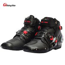 Moto rcycle botas motociclista impermeable velocidad moto cross Racing zapatos hombres/mujeres protector moto rbike montar botas moto suave no-slip(China)