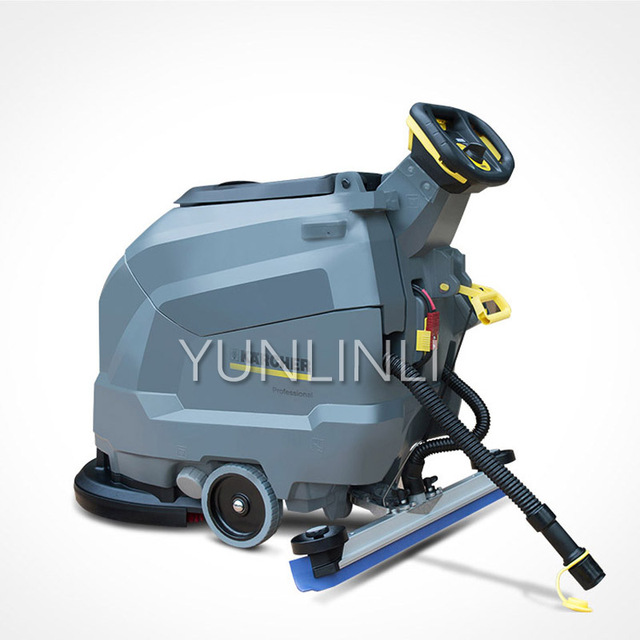 Washing Machine Commercial Industrial Factory Workshop Battery Hand Push Sweeping Mopping Machine BD50/50