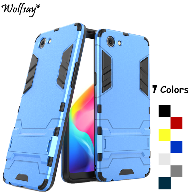 new arrival 92cb8 53426 US $2.68 37% OFF|Robot Cover Oppo Realme 1 Case Strong Armor PC & Silicone  Phone Cover For Oppo Realme 1 Case Oppo Realme 1 Phone Case CPH1859-in ...