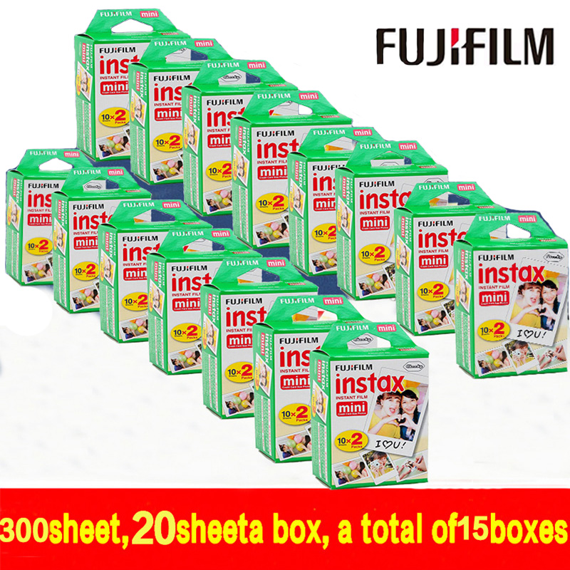 300 sheet Fujifilm Fuji Instax Mini 8 film for Fujifilm Instant Mini 7s 25 50s 90 Camera Fuji Instax White Edge Photo film Paper fujifilm instax 300 black