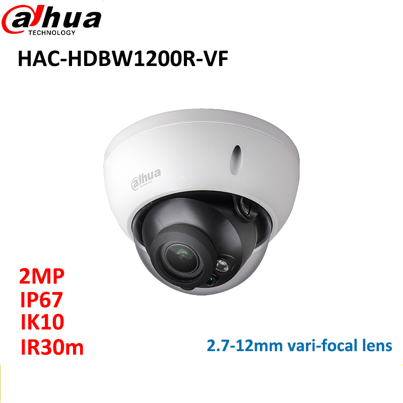 DAHUA 2MP HDCVI camera 2.7-12mm vari-focal lens HAC-HDBW1200R-VF Dome cctv camera IP67 IR30m CCTV system комплекты акустики focal pack dome 5 1 black