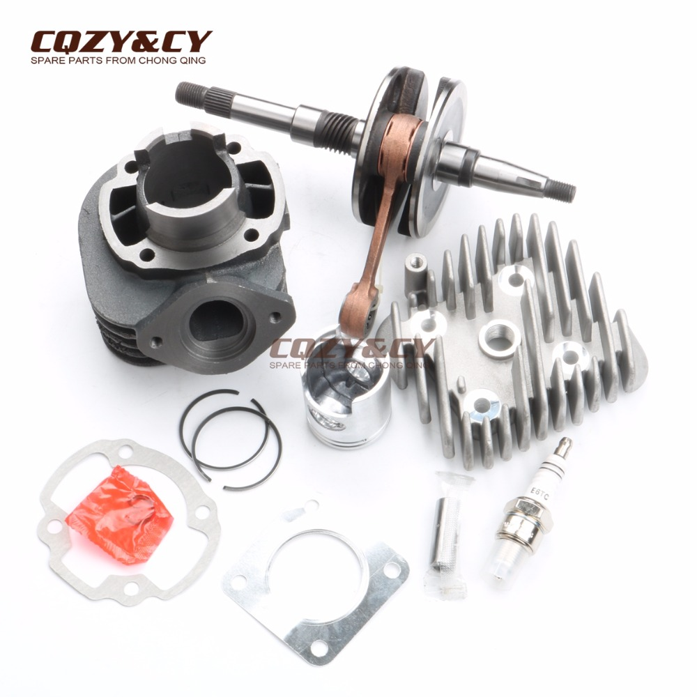 50cc cylinder kit & Cylinder Head Cap & High quality crankshaft for HONDA DIO AF34 AF35 ZX50 50cc 40mm/12mm 2 stroke
