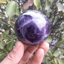50-55MM Natural Dream amethyst Sphere Ball Gemstone Healing best natural dream amethyst crystal sphere ball orb gem stone