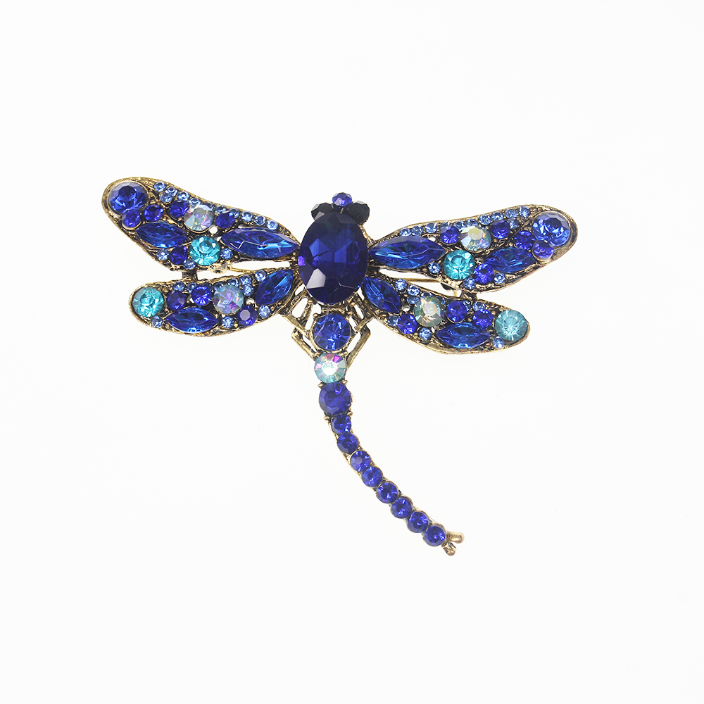 10 pcs/lot nouveau style libellule insecte broche bijoux décoration pour cadeau fête