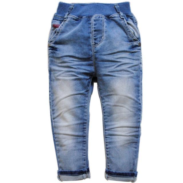 6093 BABY BOY & GIRL JEANS DENIM PANTALONES suaves de la primavera o el otoño para niños pantalones de niño de la manera