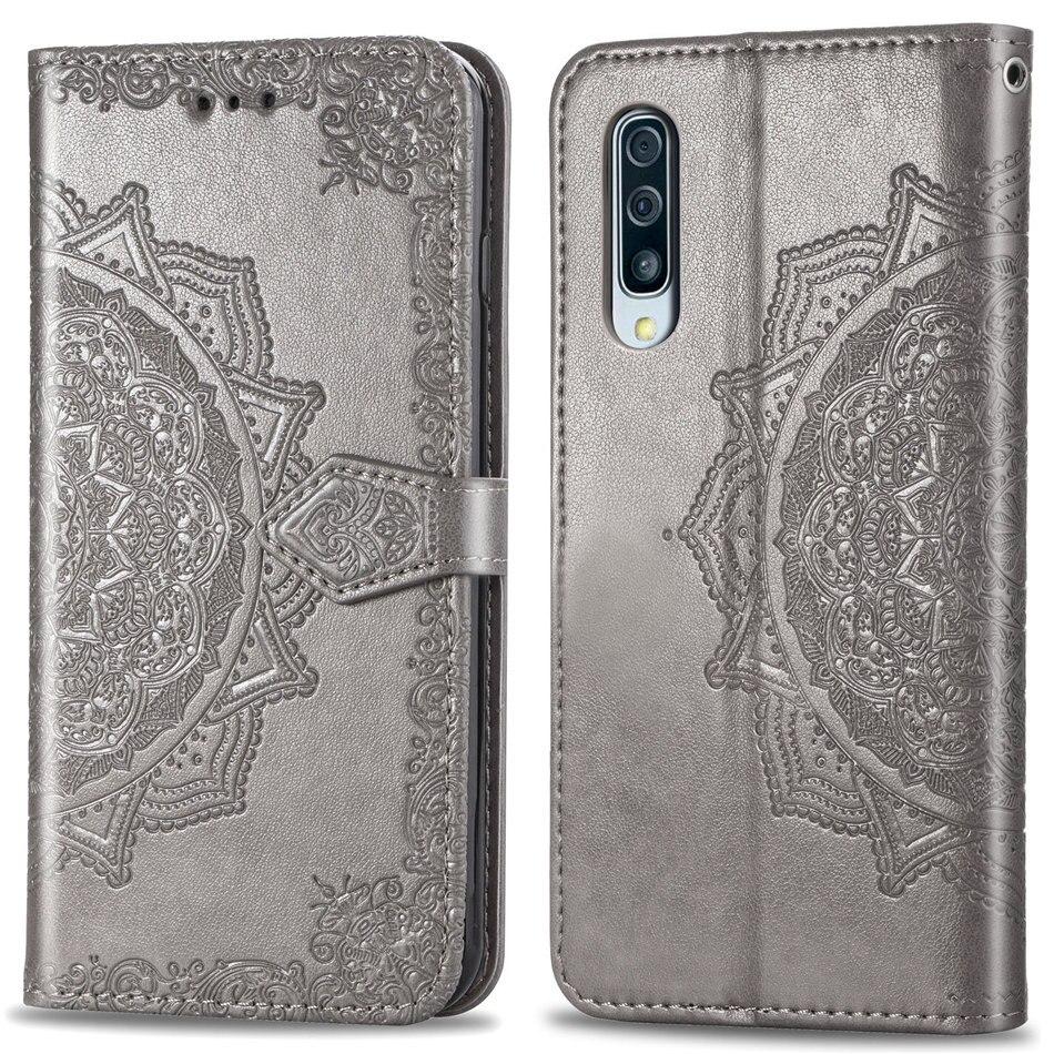 Casos Retro Para Samsung Galaxy A10 A30 A40 A50 A70 S10E S10 S9 S8 S7 A6 A7 A8 A9 J4 j6 Plus 2018 Embossing Capa Mandala DP05Z