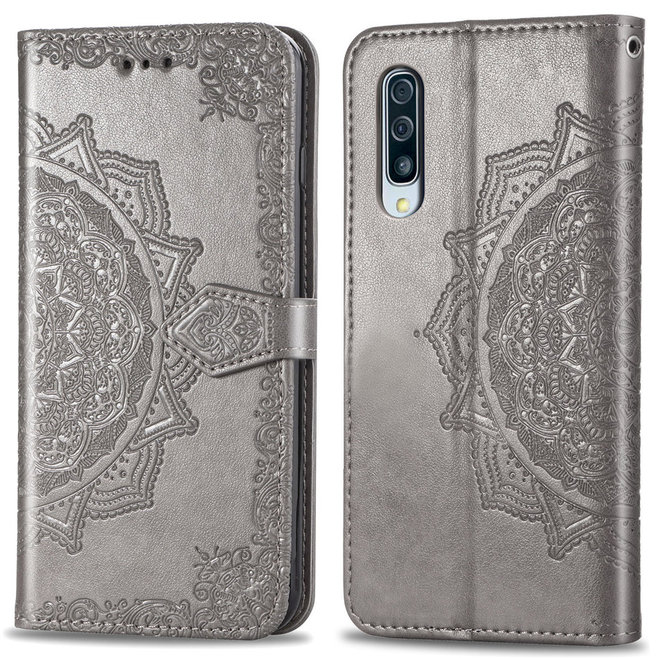 Retro Cases For Samsung Galaxy A10 A30 A40 A50 A70 S10E S10 S9 S8 S7 A6 A7 A8 A9 J4 J6 Plus 2018 Embossing Mandala Cover DP05Z in Wallet Cases from Cellphones Telecommunications