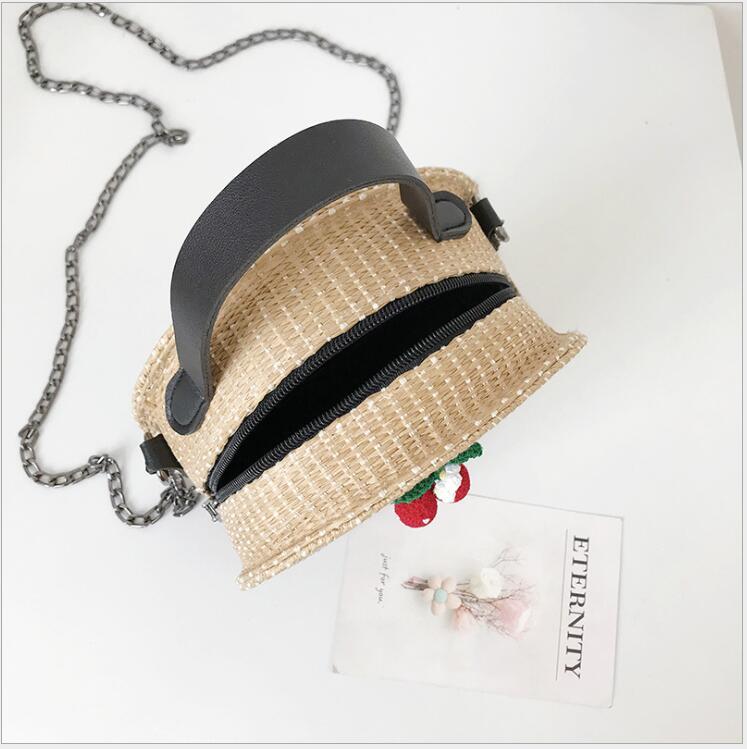 Sacs à bandoulière pour femmes 2018 sacs ronds faits à la main Style bohème plage paille unique épaule chaîne sangle sacs à main sac Messenger. - 6