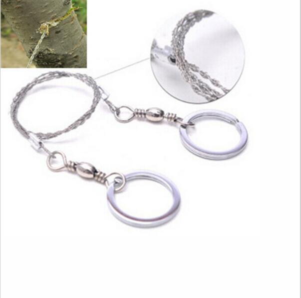 53CM Stainless Steel Wire Saw Scroll String Chain Saw Outdoor Emergency Camping Hunting Survival EDC Kits Hand Tools Rope Saws