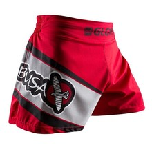 red and black MMA Fighting Glory sports fitness breathable Tiger Muay Thai boxing shorts boxing clothing short muay thai mma