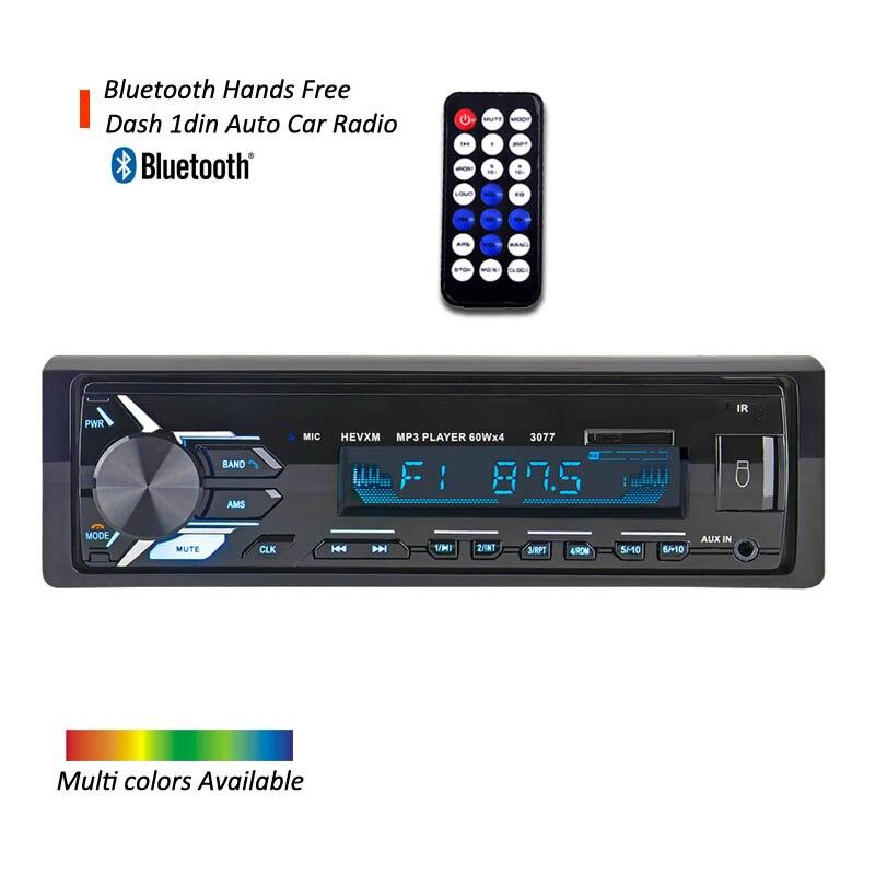 DYDNAUDIO 3077 Bluetooth Autoradio ISO connecteur De Voiture stéréo lecteur avec mains libres appel téléphonique USB télécommande AUXILIAIRE- dans