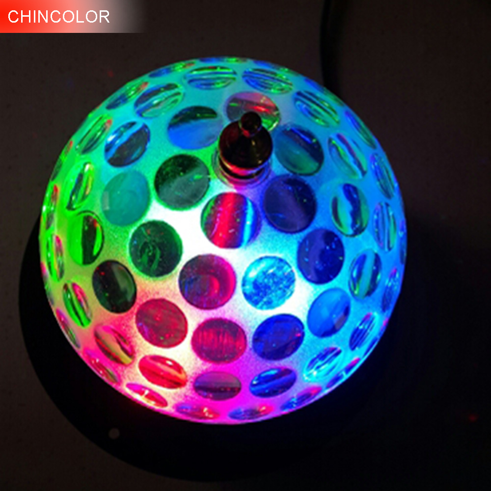 3W led Auto rotate Crystal stage light AC85-265V Disco colorful Ball light DJ magic For /Party /Decoration /KTV /Bar DA