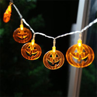 Halloween Fairy String Light 10LED 20LED Pumpkin String Warm White For Halloween Garden Party Wedding Patio