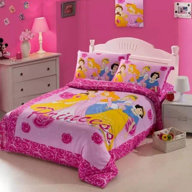 Grey Pink And Blush Comforters For 12 Year Old Girls: Pink Rose Flower Princess Comforter Bedding Set Single