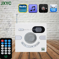 Sıcak satış Taşınabilir Duvar Hoparlör Anahtarı Tasarım AUX FM TF Kart U Disk Ile multi-fonksiyonel Stereo Zaman Göstergesi MP3 ÇALAR