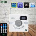 Venda quente Portátil Orador Parede Projeto Interruptor AUX Estéreo Com FM TF Cartão de U Disco de Multi-funcional de Exibição de Tempo MP3 PLAYER